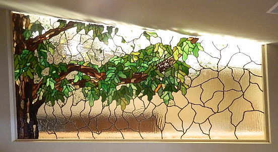 Angled Transom Tree by Julie Gill of Big Glass Art