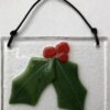 Fused Christmas Ornaments - Holly Leaves